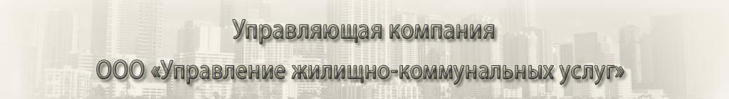 Управление жилищно-коммунальных услуг